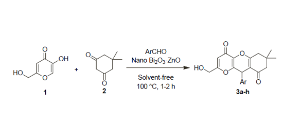 Three-component reactions of kojic acid By M. Zirak et al. (2017)
